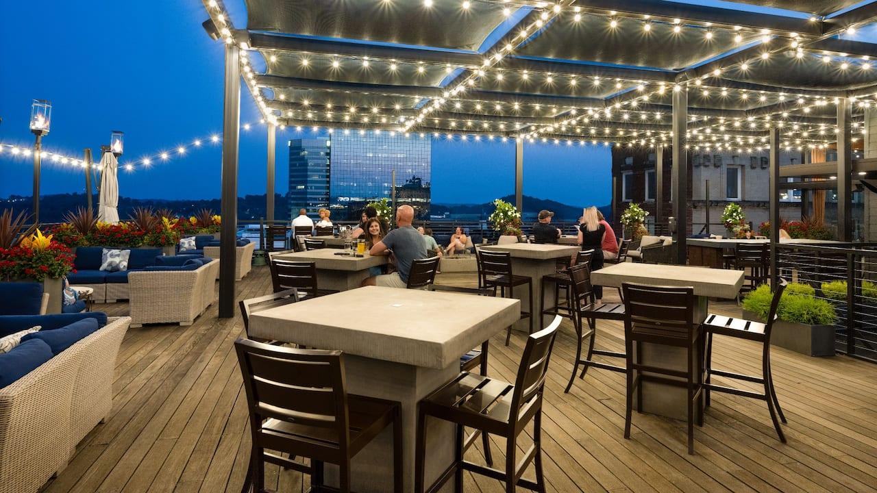 Five Thirty Rooftop Bar Nighttime