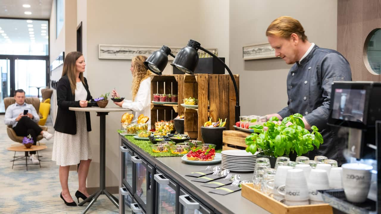 Standing Lunch at Event Spaces Foyer